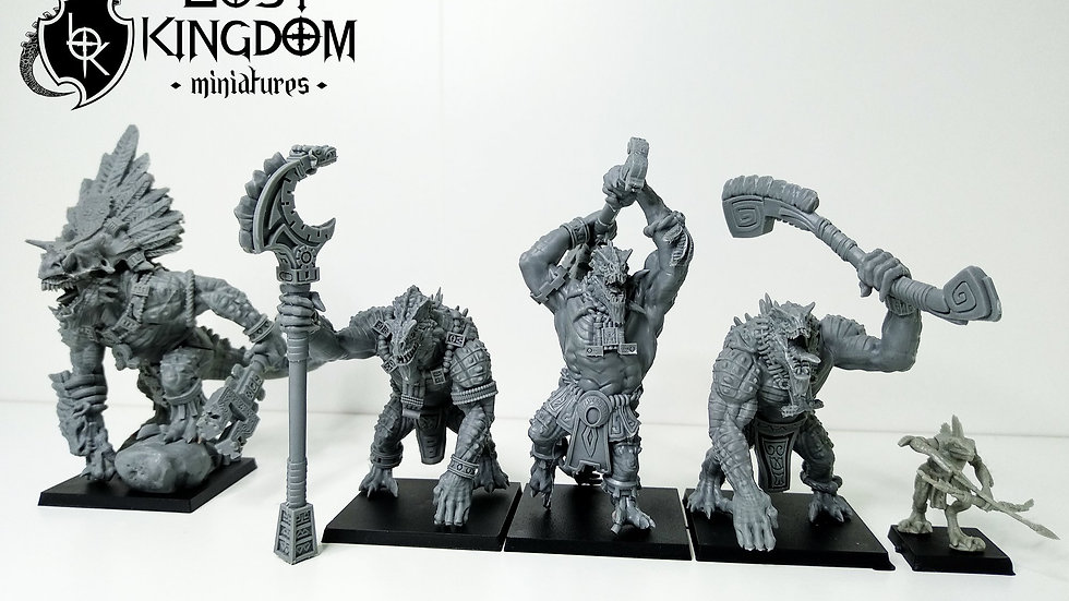 Lizardmen Cipactli- Resin Miniature- 3D Printed
