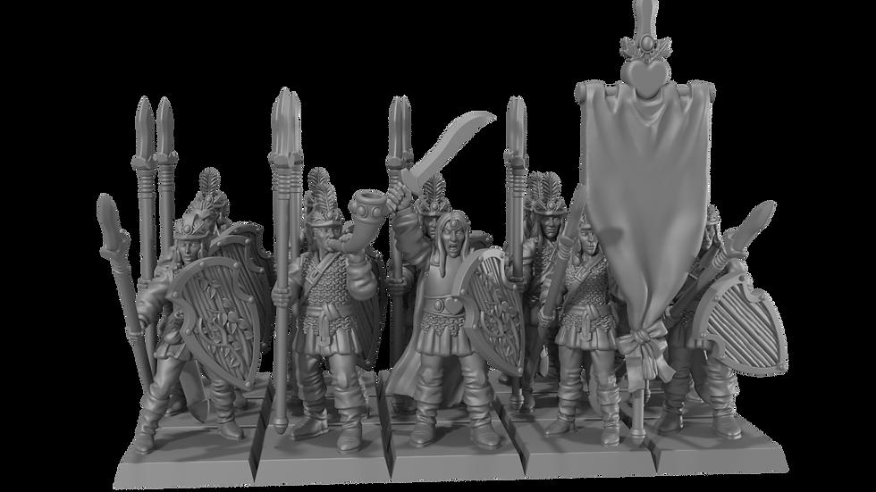 Wood Elf troops set- Resin Miniature - 28mm