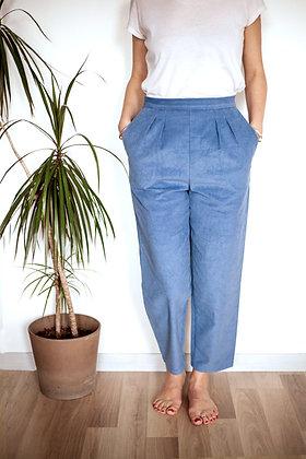 Pantalon Sublime velours bleu