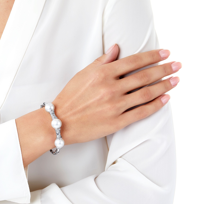 Yoko South Sea Pearl and Diamond Bracelet