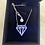 Thumbnail: Large 14K Gold and Diamond Pendant Necklace