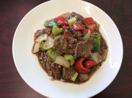 #51 Lamb Pad Prig Thai Dum