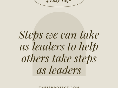 Steps We Can Take