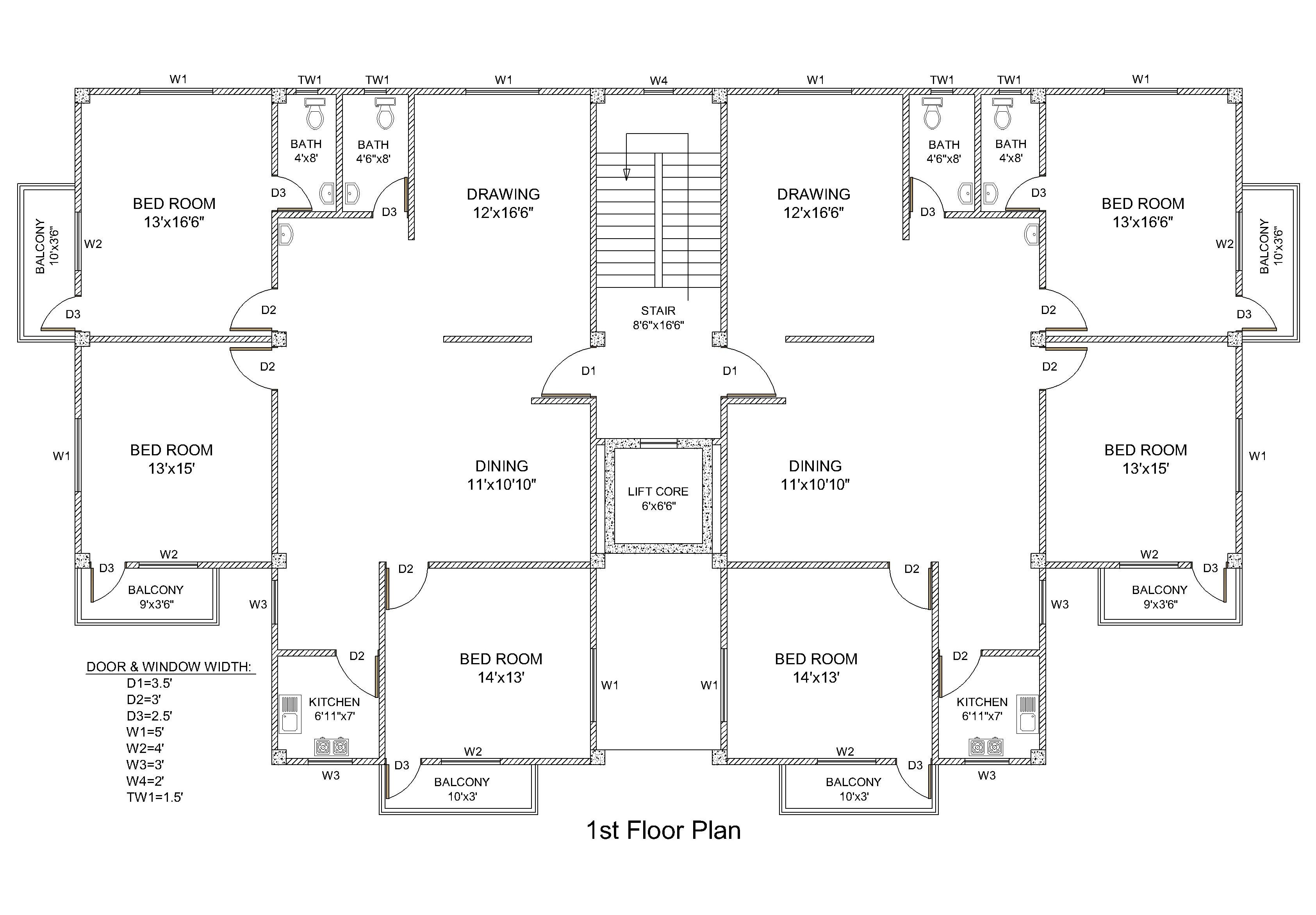 draw-2d-floor-plans-in-autocad-from-sket