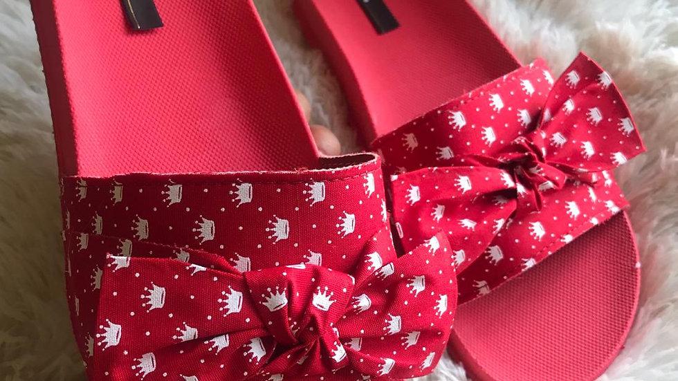 Chinelo Slide Melissa -Vermelha