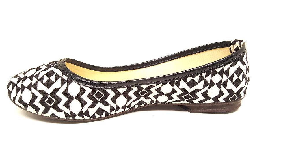 Sapatilha Basic Elegance- Preta/ Geometrico