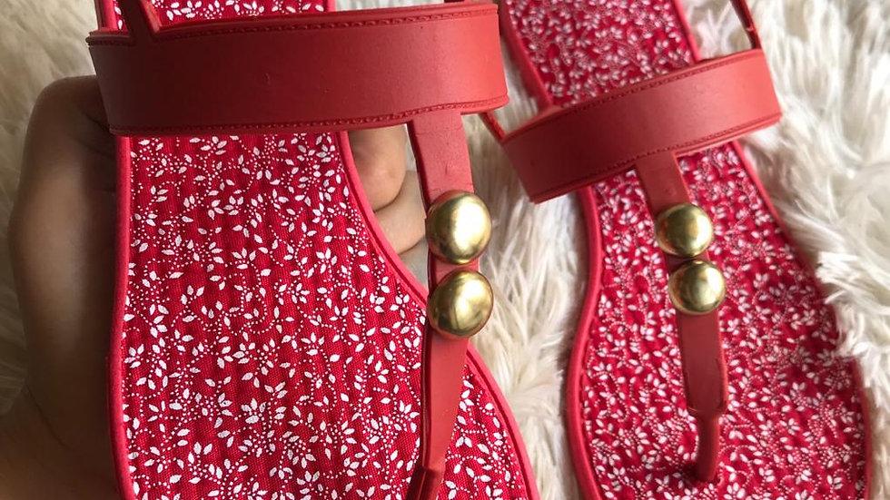 Sandália Confort -Vermelha