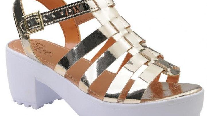 Sandália Tratorada Elegance - Dourada
