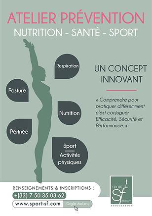 Affiche Atelier prévention nutrition Sport sf