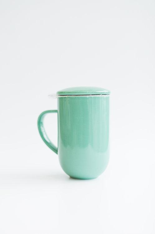 Keramický pohár na čaj ZELENÝ