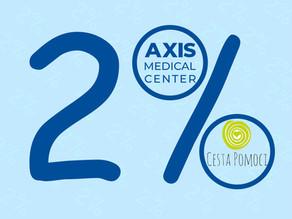 2% z daní na liečbu v Axis International Rehabilitation Center