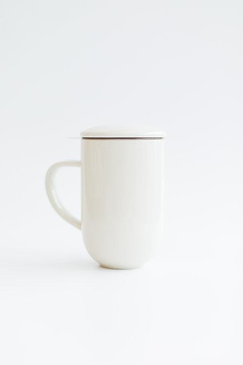 Keramický pohár na čaj BIELY