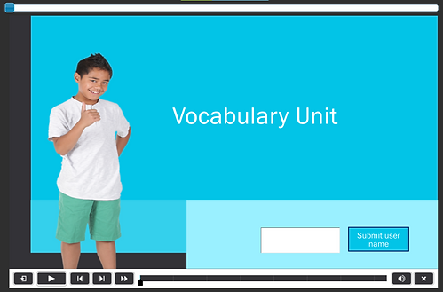 This first slide introduces the vocabulary unit with a thumbs up!
