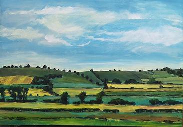 Landscape painting Howardian hills