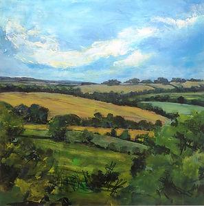 West Sussex landscape painting