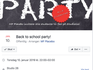 Genvors og Back to school-fest 10. januar!