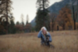 Taking pictures in Yosemite Valley