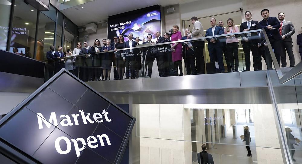 ECSIF Co-founders Dr. Dumitrescu Diana Valentina & Dr. Dumitrescu Daniel Ioan Fintech Investors invited @ London Stock Exchange Market Opening