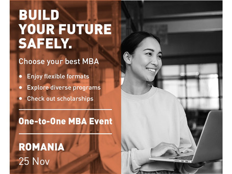 Looking to boost your business skills and re-invent your career? The MBA gives you a fresh start.