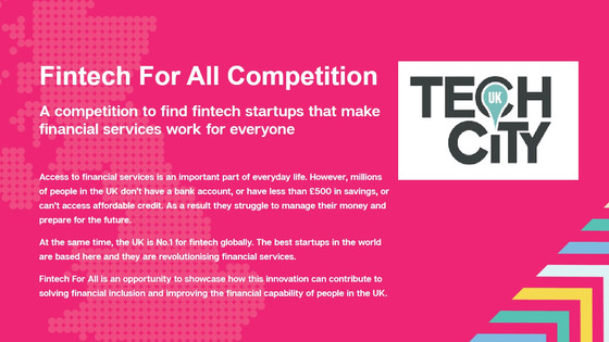 2ndChance will participate @ Fintech for All 2017 - A TechCity Initiative
