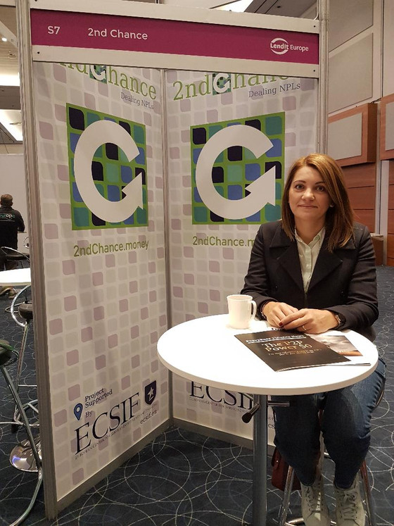 Our winning 2ndChance platform backed by ECSIF is now @ LendIT Europe