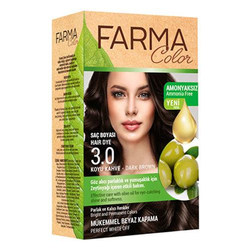FARMACOLOR SAÇ BOYASI 3.0 KOYU KAHVE