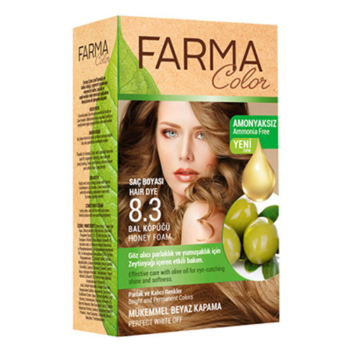 FARMACOLOR SAÇ BOYASI 8.3 BAL KÖPÜĞÜ