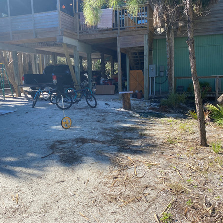 Fill Dirt and Rocks for a New Parking Area Cape San Blas