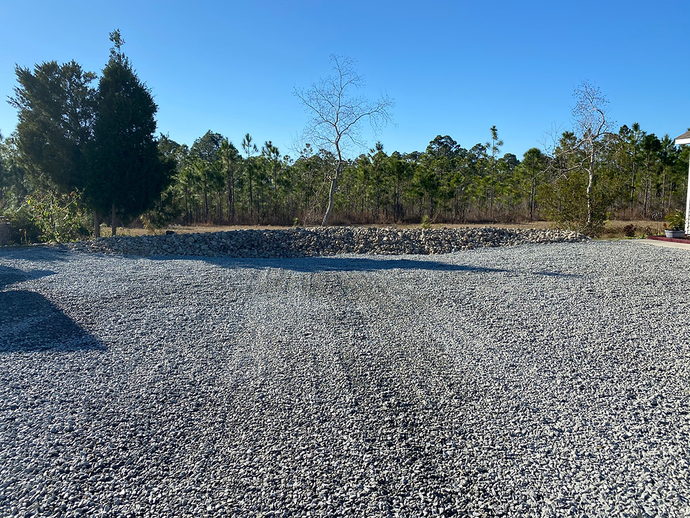 Rocks for parking  lot