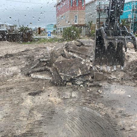 Concrete Foundation Demolition in Mexico Beach, Florida