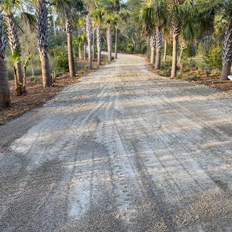 Adding a New Rock Driveway Indian Pass, Fl
