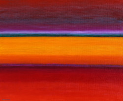 Double paysage rouge