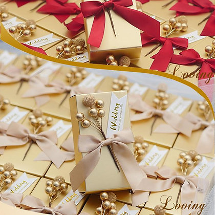 Pure Flower Candy Box with Ribbon