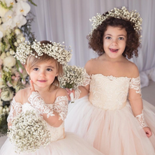 #4 Flower Girl's Halo Wreaths And Bouquets Toronto