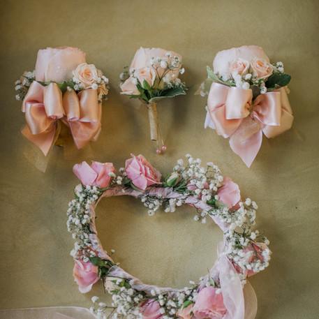 #18 Boutonniere/Wristlet/Floral Wreath Halo Toronto