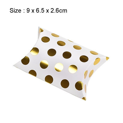 Gold Dot Pattern Candy Box 10pcs
