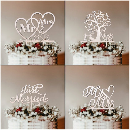 Wedding Cake Toppers (Multi-Styles)