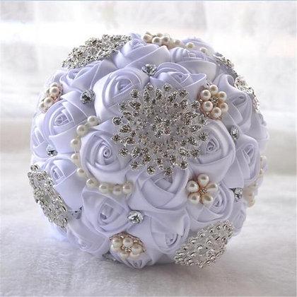 Ivory White Wedding Bouquet (8-Styles)