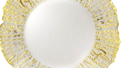 #1 Glass Gold Reef Charger Plates For Weddings And Formal Events Toronto