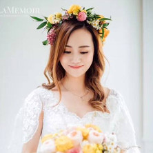 #22 Bridal Bouquet And Floral Halo Wreath Toronto