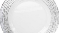 #4 Glass Silver Classic Charger Plates For Weddings And Formal Events Toronto
