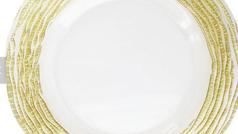 #9 Glass Gold Irregular Charger Plate Toronto