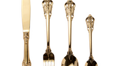 #16 Gold Plated Cutlery Toronto