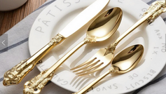 #14 Gold Plated Cutlery Toronto