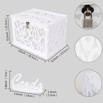 DIY Wedding Money Box (White)