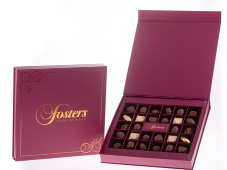 Fosters Chocolate Christmas. We have added Christmas hampers luxury chocolate boxes. Free delivery