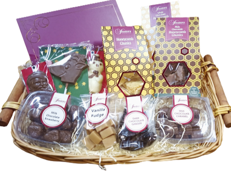 Christmas Hampers Filled with chocolate goodies all made in Northern Ireland