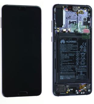 Ecran complet (châssis + batterie) Huawei P20 Pro d'origine Huawei