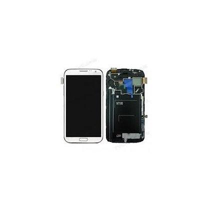 Vitre tactile grise + écran Samsung Note 2 N7100