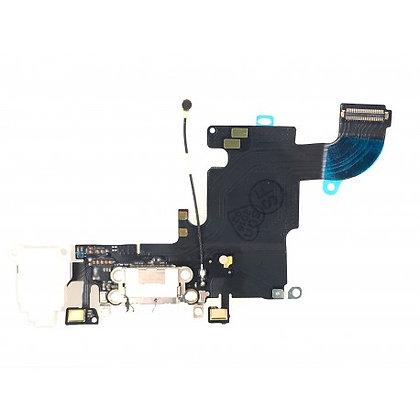 Connecteur de charge + Micro + Prise Jack + Antenne GSM Blanc iPhone 6S